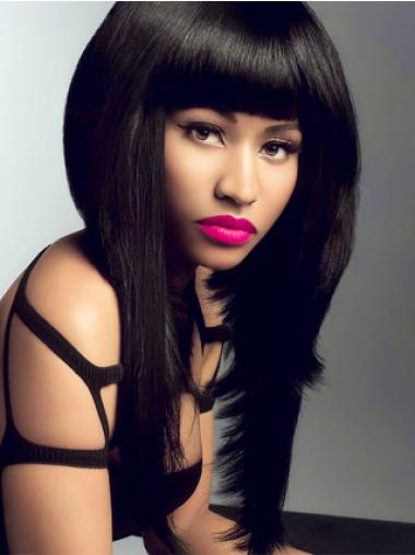 Lace Front Black Straight Fashionable Nicki Minaj Wigs