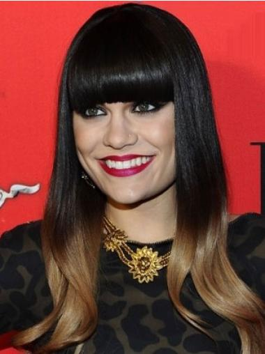 Monofilament Black Straight Exquisite Jessie J Wigs