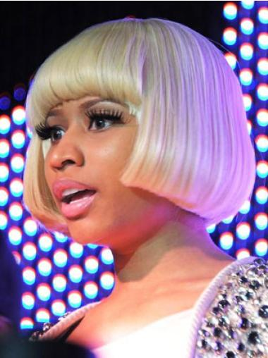 Top Blonde Straight Short Nicki Minaj Wigs