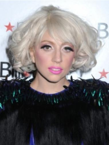 Gorgeous Curly Chin Length Lady Gaga Wigs