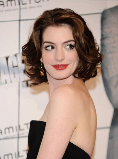 Cosy Auburn Wavy Chin Length Anne Hathaway Wigs