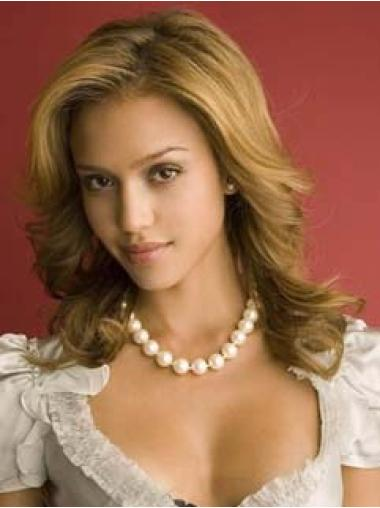 Lace Front Blonde Wavy Fashionable Jessica Alba Wigs