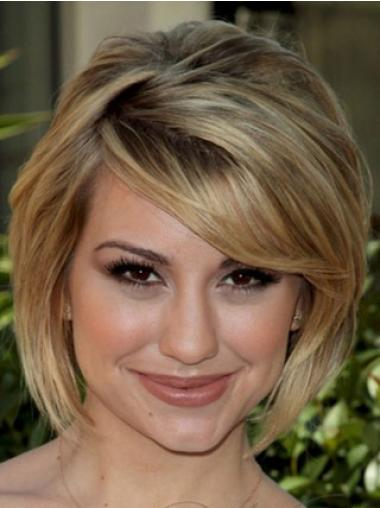 Popular Blonde Straight Chin Length Celebrity Wigs