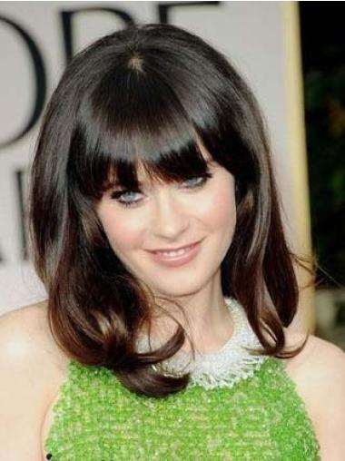Lace Front Brown Wavy Mature Celebrity Lace Wigs