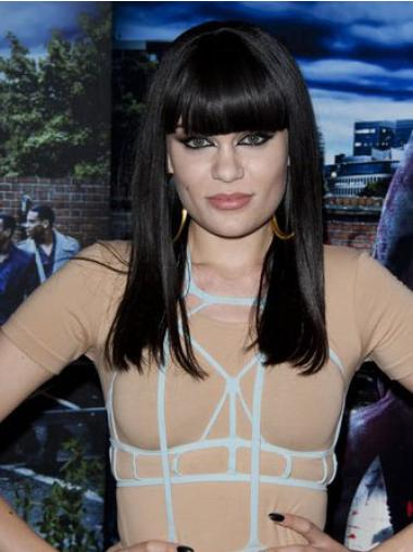 Fashion Black Straight Long Jessie J Wigs
