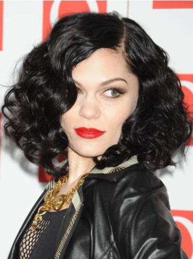Gorgeous Black Curly Chin Length Jessie J Wigs