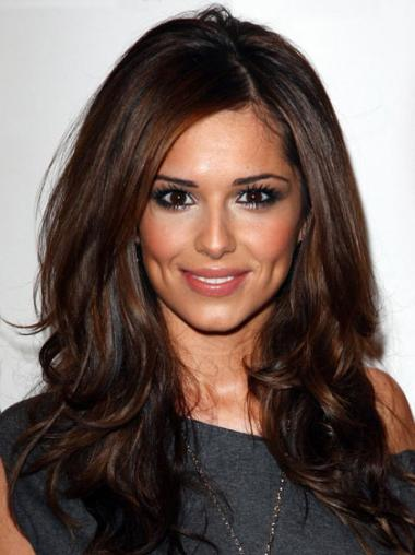 Monofilament Auburn Wavy Incredible Cheryl Cole Wigs