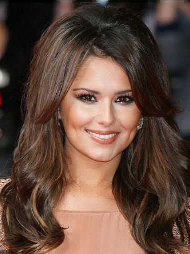 Lace Front Brown Wavy Tempting Cheryl Cole Wigs