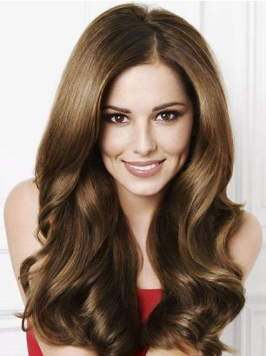Exquisite Brown Wavy Long Cheryl Cole Wigs