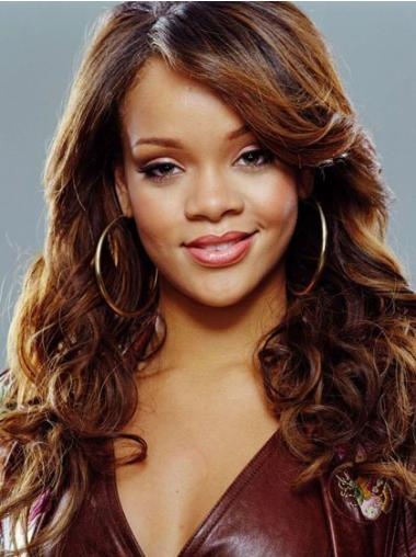 Nice Auburn Curly Long Rihanna Wigs