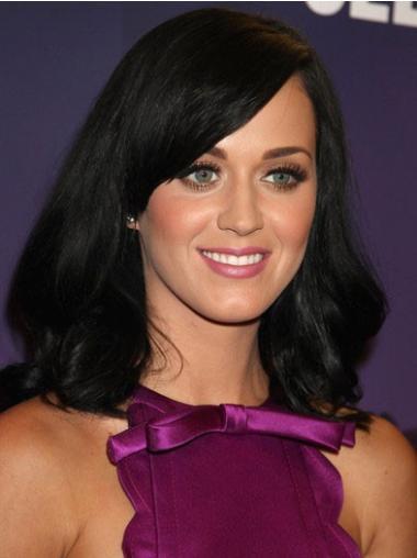 Monofilament Black Straight Modern Katy Perry Wigs