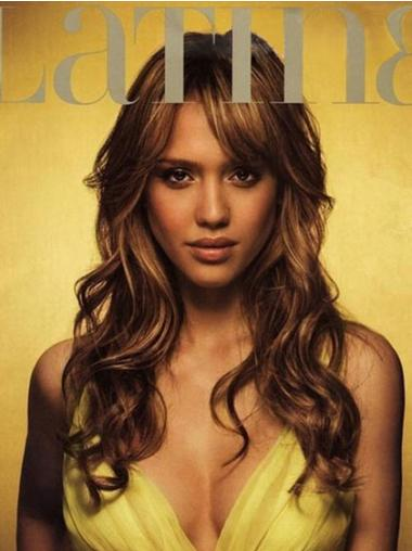 Lace Front Brown Wavy Braw Jessica Alba Wigs