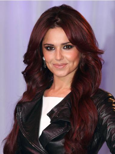 Lace Front Red Wavy Flexibility Cheryl Cole Wigs