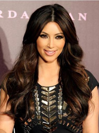 Easy Black Wavy Long Glueless Lace Wigs