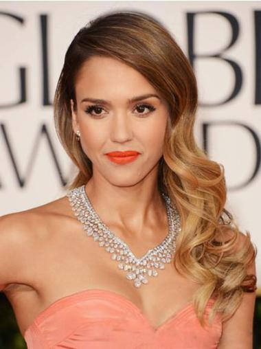 Lace Front Brown Wavy Stylish Jessica Alba Wigs