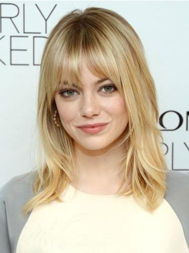 Great Blonde Straight Shoulder Length Celebrity Wigs