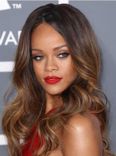 Lace Front Brown Wavy Easeful Rihanna Wigs