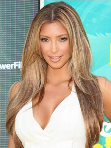 Monofilament Blonde Straight Top Celebrity Wigs
