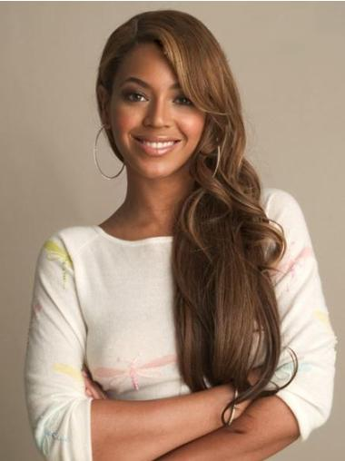 Designed Brown Wavy Long Beyonce Wigs