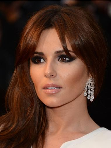 Popular Auburn Wavy Long Cheryl Cole Wigs