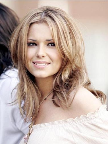 Fashionable Blonde Straight Shoulder Length Cheryl Cole Wigs