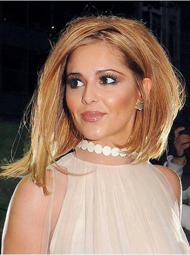 Stylish Auburn Straight Shoulder Length Cheryl Cole Wigs