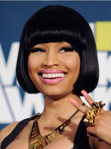 High Quality Black Straight Chin Length Nicki Minaj Wigs