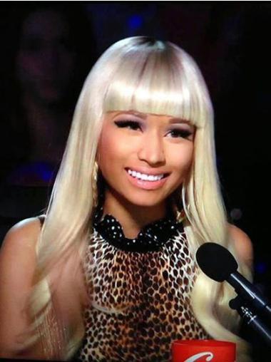 Comfortable Blonde Wavy Long Nicki Minaj Wigs