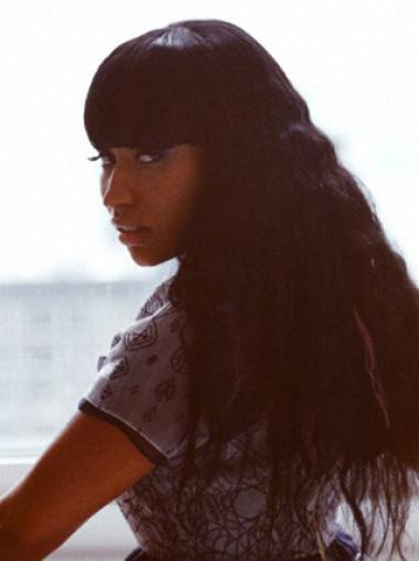 Perfect Black Wavy Long Nicki Minaj Wigs