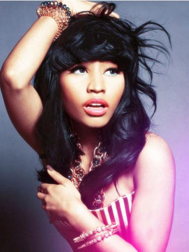 Lace Front Black Wavy Sleek Nicki Minaj Wigs