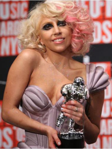 Best Blonde Wavy Shoulder Length Lady Gaga Wigs