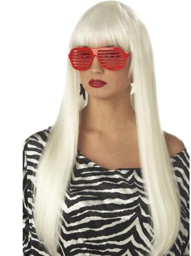 Exquisite Straight Long Lady Gaga Wigs