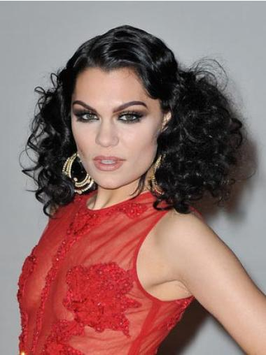 Lace Front Black Curly Convenient Jessie J Wigs
