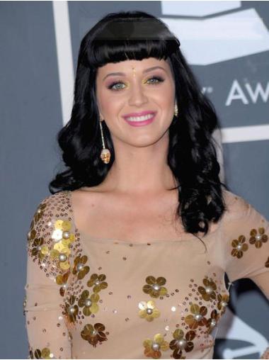 No-fuss Black Wavy Long Katy Perry Wigs