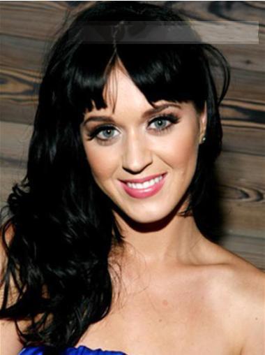 Natural Black Wavy Long Katy Perry Wigs