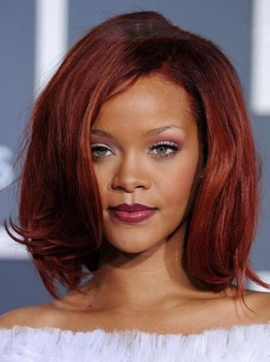 Lace Front Red Straight Best Rihanna Wigs
