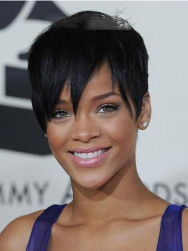 Lace Front Black Straight Wholesome Rihanna Wigs