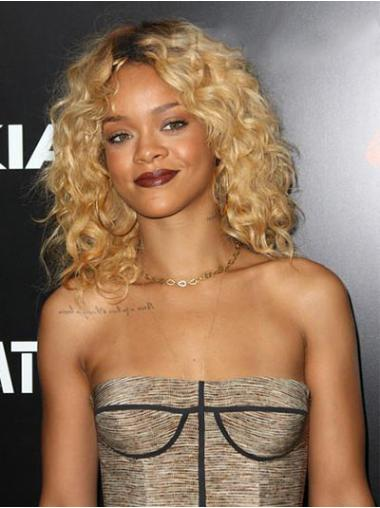 Lace Front Blonde Curly Impressive Rihanna Wigs