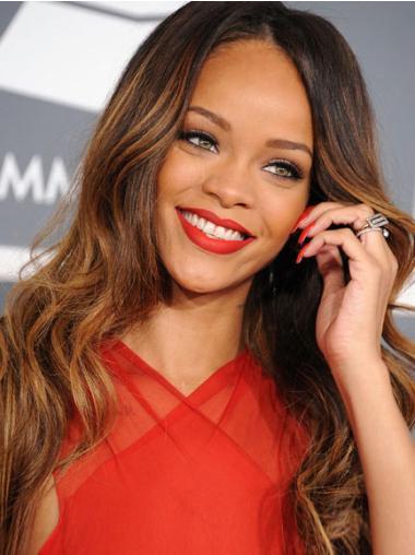 Cosy Brown Wavy Long Rihanna Wigs
