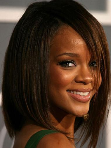Faddish Brown Straight Shoulder Length Rihanna Wigs