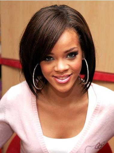 Lace Front Brown Straight Mature Rihanna Wigs