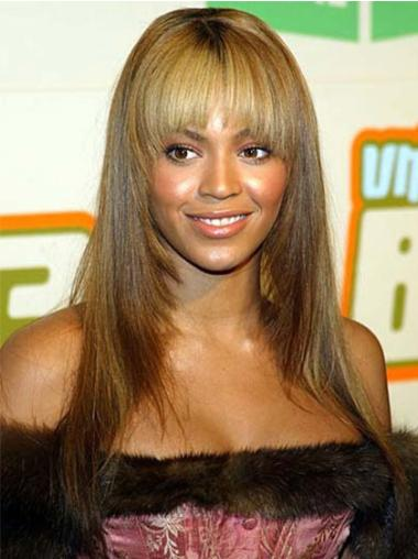 Natural Blonde Straight Long Beyonce Wigs