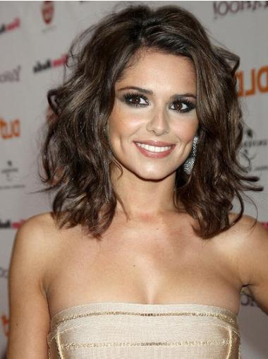 Lace Front Brown Wavy Discount Cheryl Cole Wigs