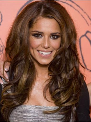 Lace Front Brown Wavy Durable Cheryl Cole Wigs