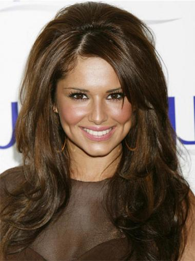 Lace Front Brown Wavy Affordable Cheryl Cole Wigs
