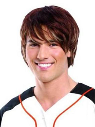 Lace Front Auburn Straight Comfortable Men Wigs