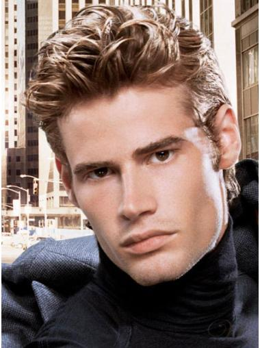 Lace Front Brown Straight Hairstyles Men Wigs