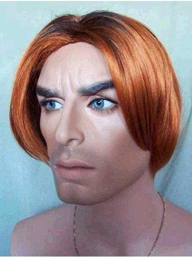 Lace Front Auburn Straight Affordable Men Wigs