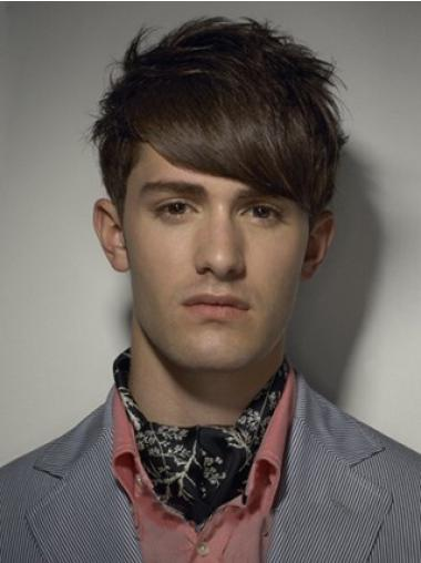 Cool Brown Straight Synthetic Men Wigs