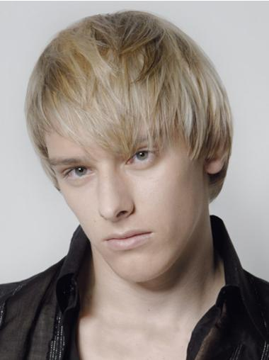 Fashionable Blonde Straight Men Wigs